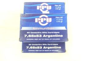 MUNIZIONI PER FUCILE SUD-AMERICANO 7,65X53